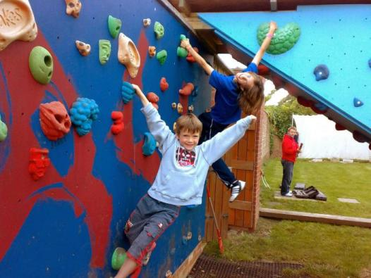 Climbing Wall at The Oakes Holiday Centre