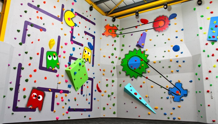 Climbing wall at The Fun Factory, Rochford