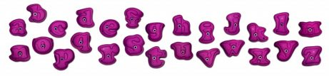 Lower Case Alphabets Climbing Holds