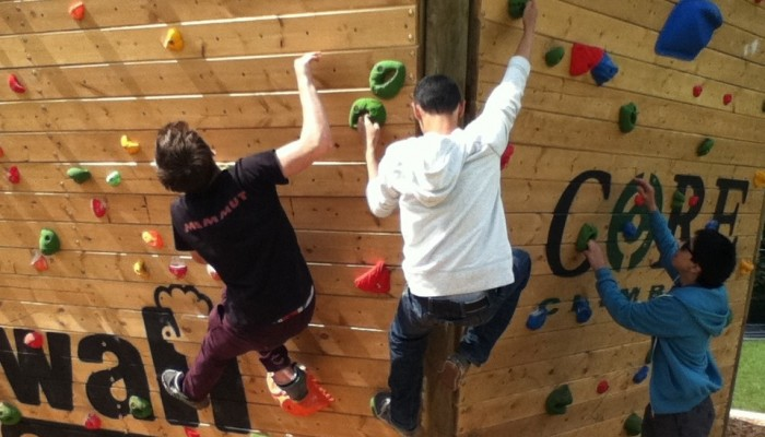 Outdoor Bouldering Wall