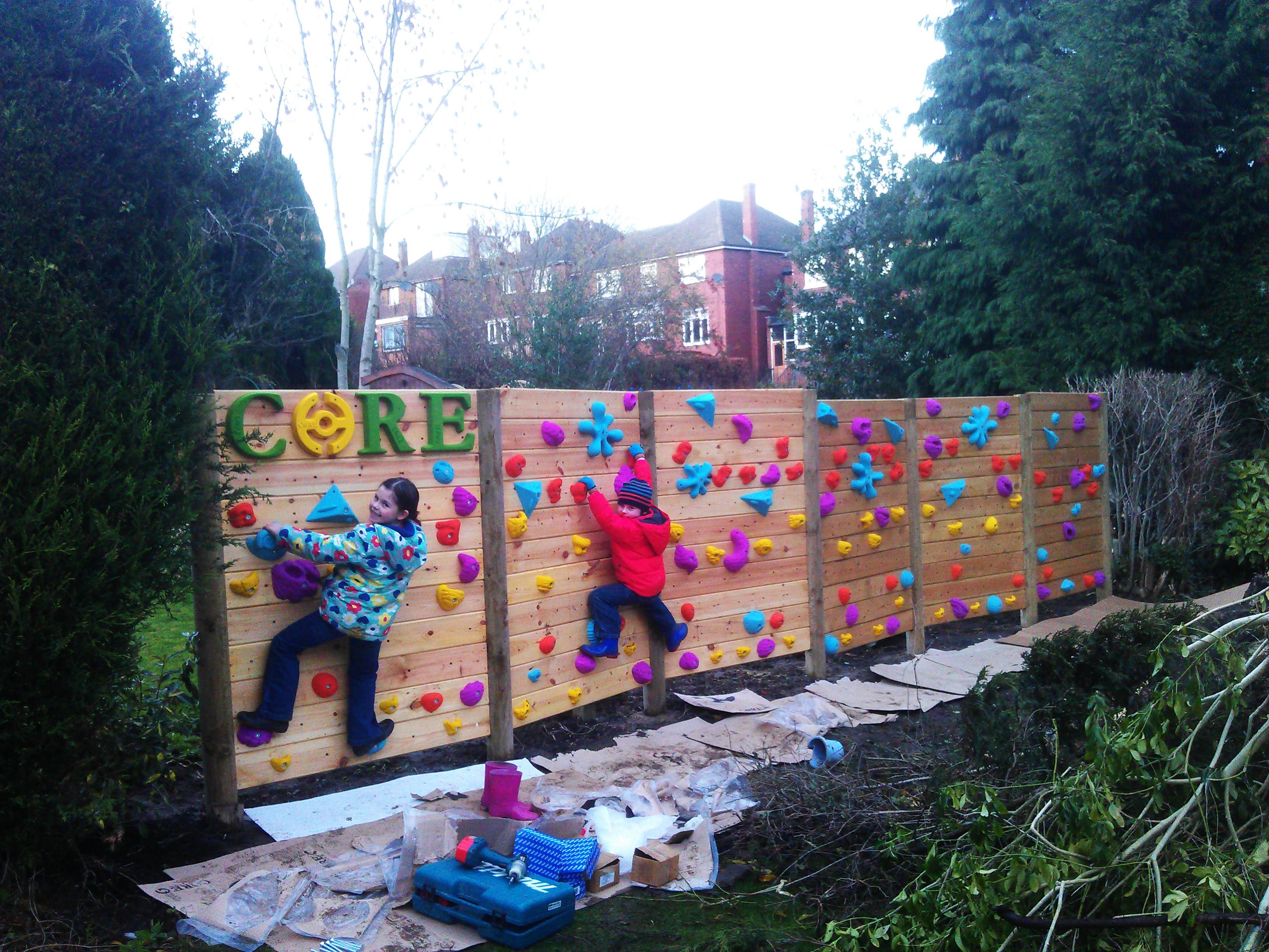 fence wall climbing christmas gardens climber richard standing
