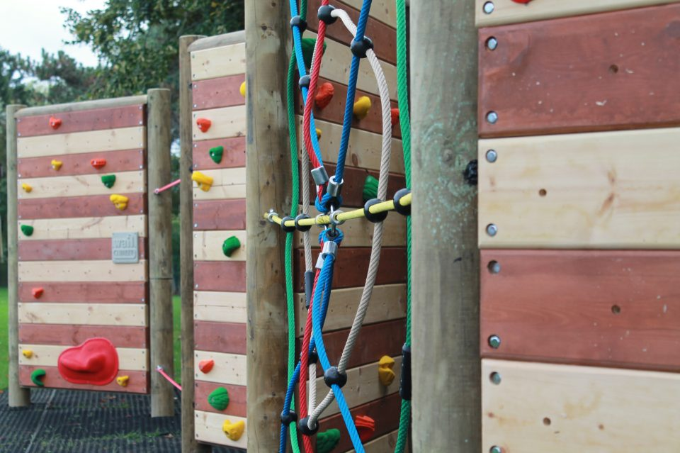 Freestanding Climbing Wall at Healing Primary School