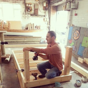 Richard building a new workbench