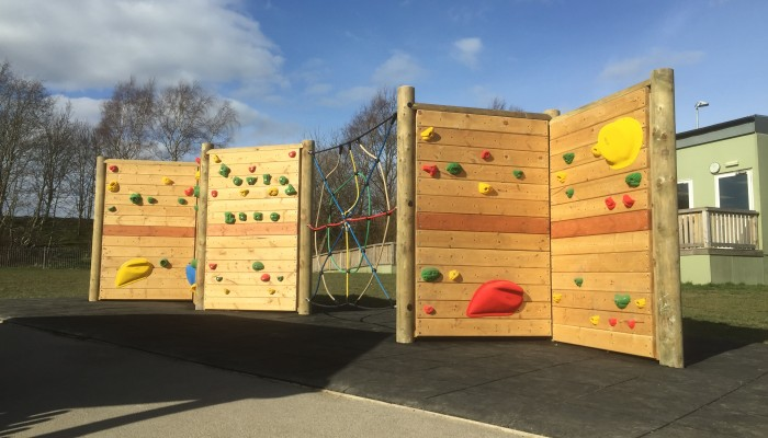 Freestanding Climbing Wall at Rowley Lane Junior School