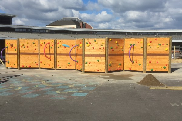 Freestanding Climbing Wall at Westoe Crown Primary School