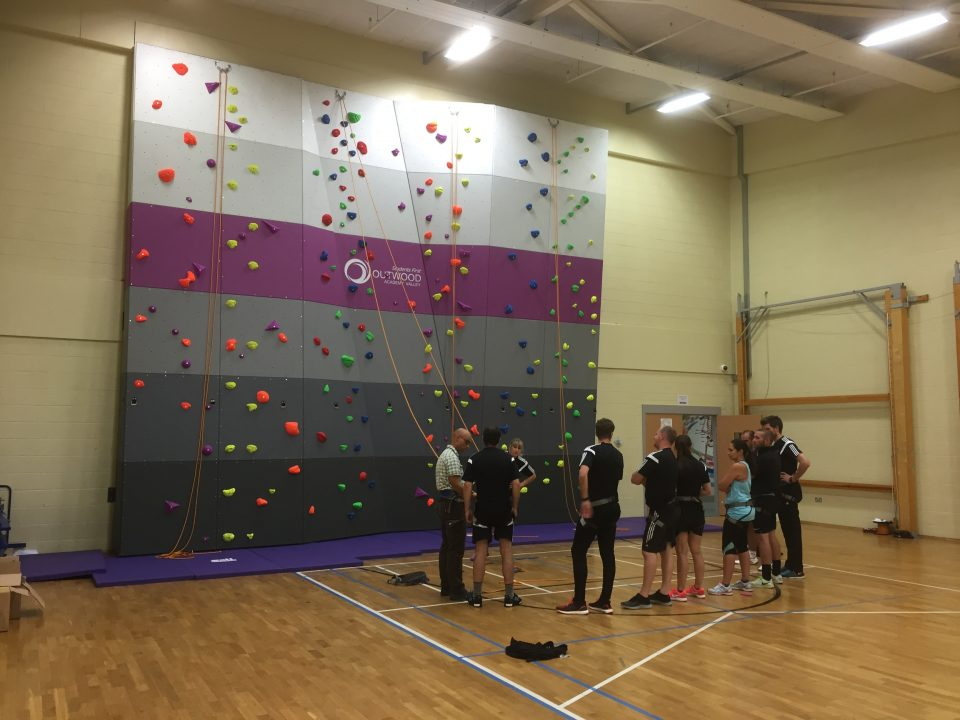 Climbing Wall at Outwood Academy Valley